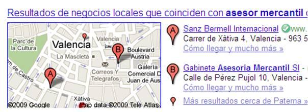 busqueda google resultados google maps negocios locales