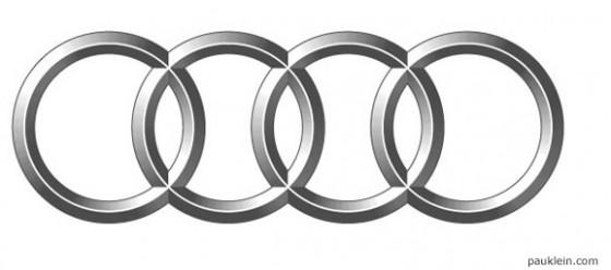 grafismo o simbolo que acompaña el logo o marca de audi