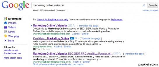 valencia marketing online que es google +1
