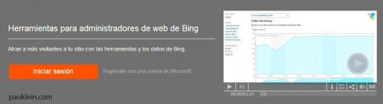 herramientas para administradores bing webmaster tools