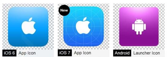 creatividad del icono adaptada al sistema operativo del movil
